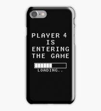 Player 4 Loading Pregnancy Announcement Maternity iPhone Case/Skin