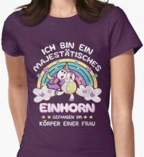 Echtes Einhorn > Gefangen in Frauenkörper > lustiges Einhorn Women's Fitted T-Shirt