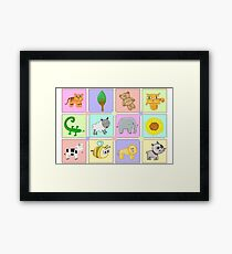 Animal Puzzle Framed Print