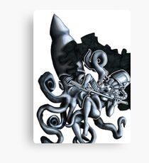 Twilight of the squid Canvas Print