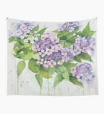 Lavender Lace Cap Floral Wall Tapestry