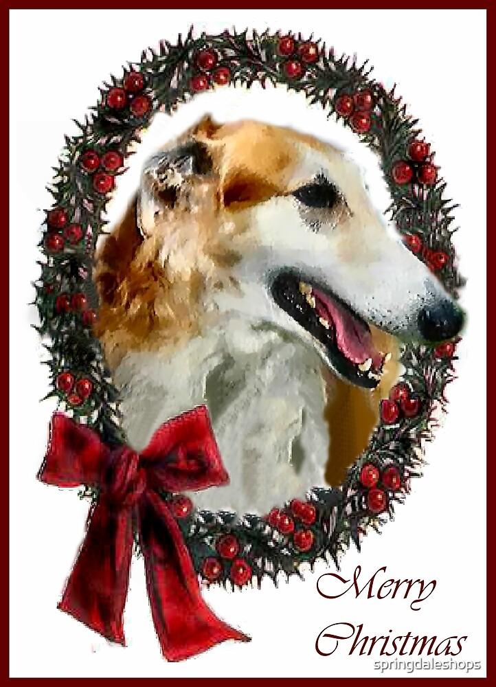 Borzoi Christmas Gifts by springdaleshops