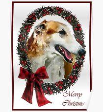 Borzoi Christmas Gifts Poster