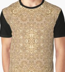 Ornate Golden Baroque Design Graphic T-Shirt