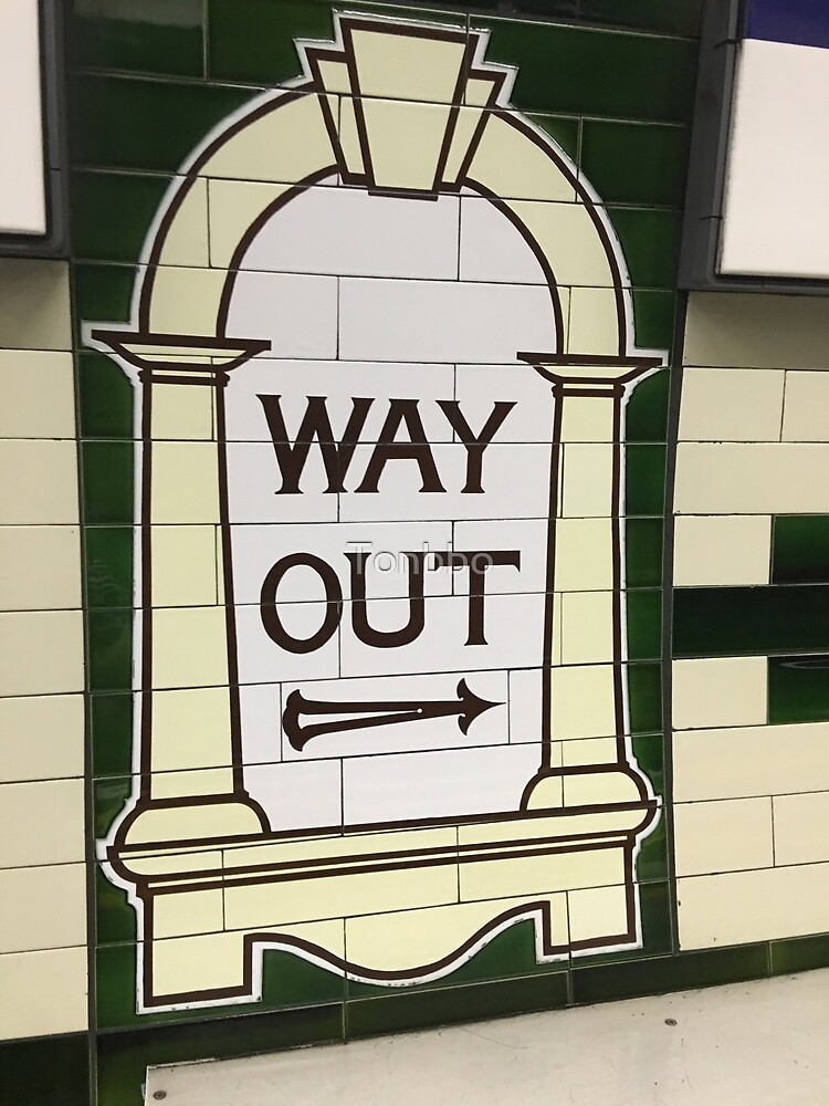 Way Out Sign (London Underground) by Tonbbo