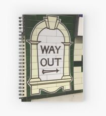 Way Out Sign (London Underground) Spiral Notebook