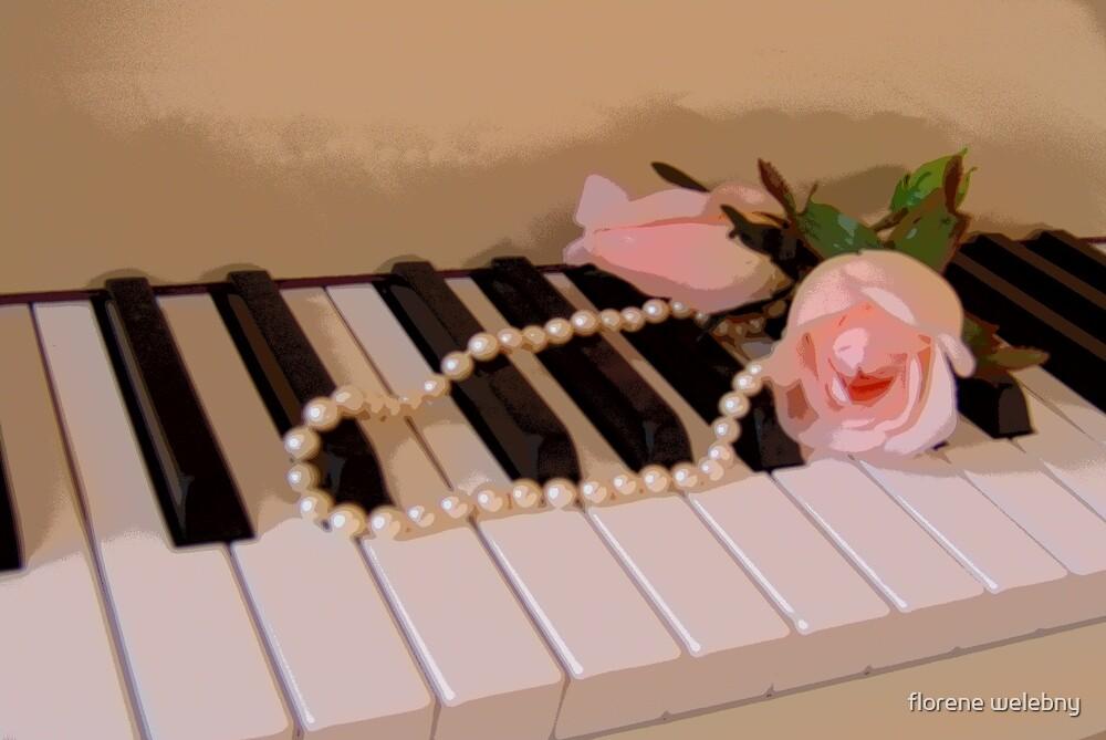 Pearly Pink Keys by florene welebny