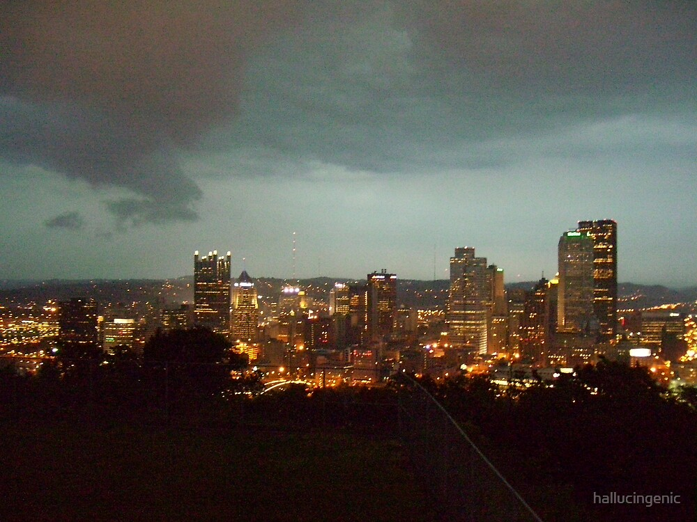Pittsburgh During a Storm by hallucingenic
