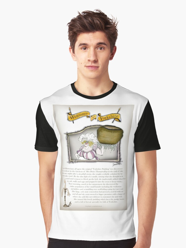 Yorkshire Pudding History Graphic T-Shirt Front