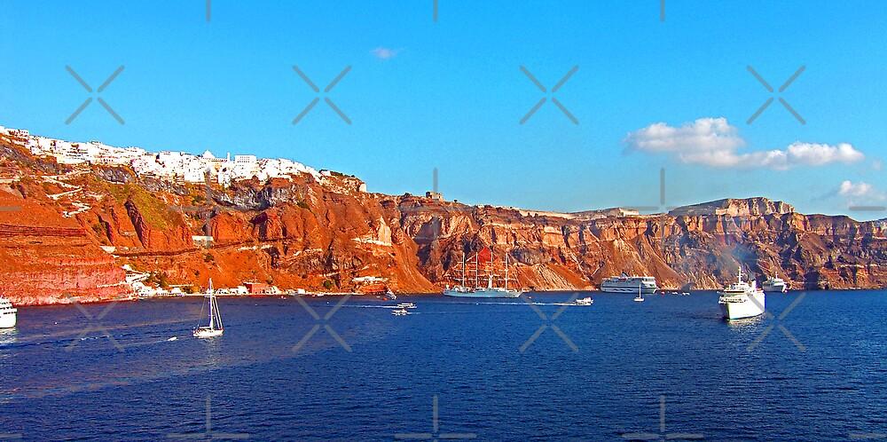 Santorini Cliffs by Tom Gomez