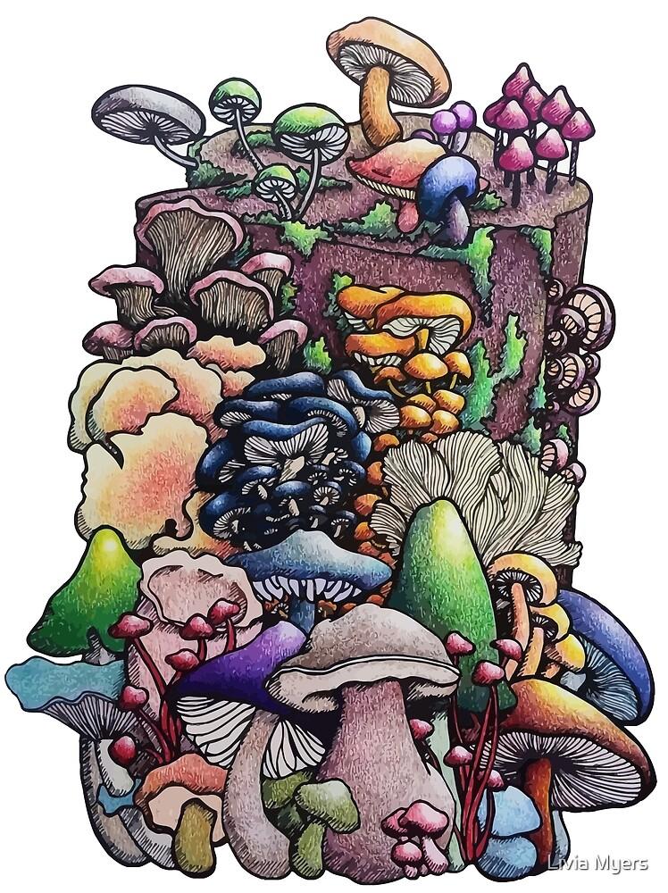 Mushroom Stump by Livia Myers