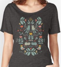 Swedish Folk Cats Relaxed Fit T-Shirt