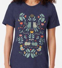 Camiseta de tejido mixto Gatos populares suecos