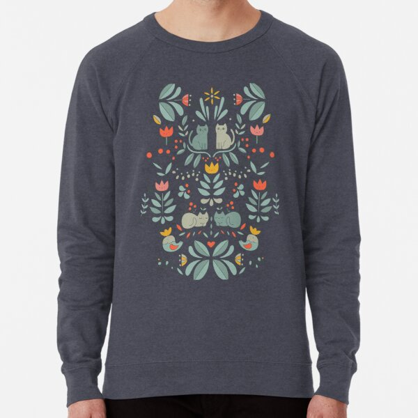 Swedish Folk Cats Lightweight Sweatshirt