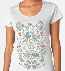 Swedish Folk Cats Women's Premium T-Shirt