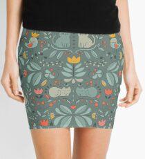 Swedish Folk Cats Mini Skirt