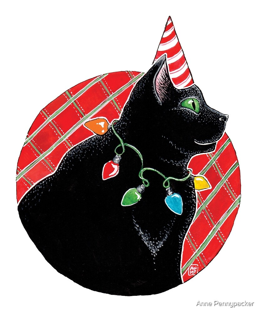 Merry Plaid Christmas Kitty by Anne Pennypacker