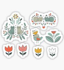 Swedish Folk Cats Sticker