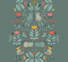 Swedish Folk Cats by Anna Alekseeva