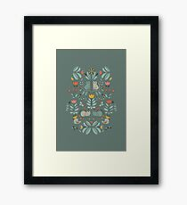 Swedish Folk Cats Framed Print