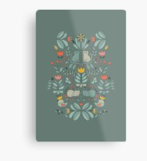 Swedish Folk Cats Metal Print