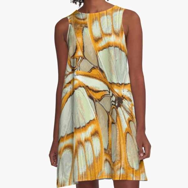 GOLDEN ORANGE – Wing Series A-Line Dress
