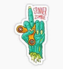 zombie spinner cartoon - fidget spinner cartoon Sticker