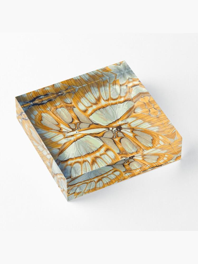 Alternate view of GOLDEN ORANGE – Wing Series Acrylic Block