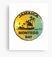 Retro Montego Bay Jamaica Art Design Canvas Print