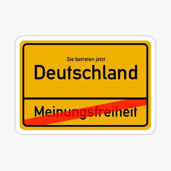 Deutschland - Meinungsfreiheit  Sticker