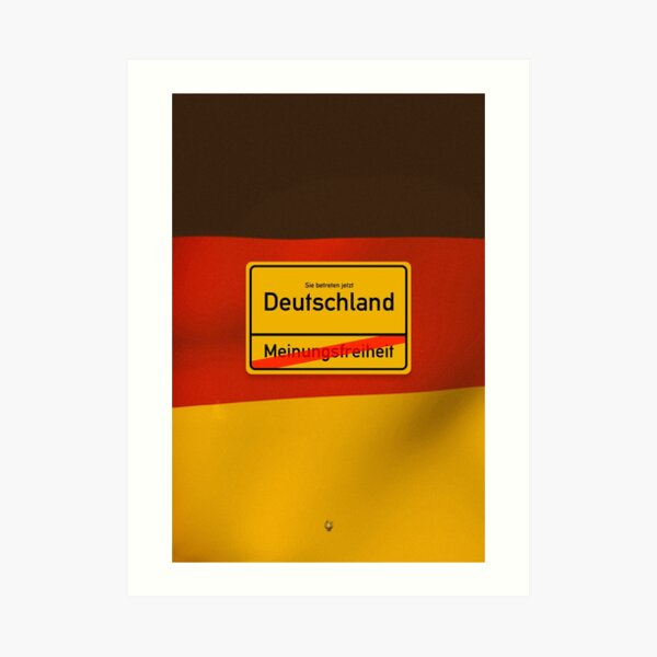 Deutschland - Meinungsfreiheit  Kunstdruck