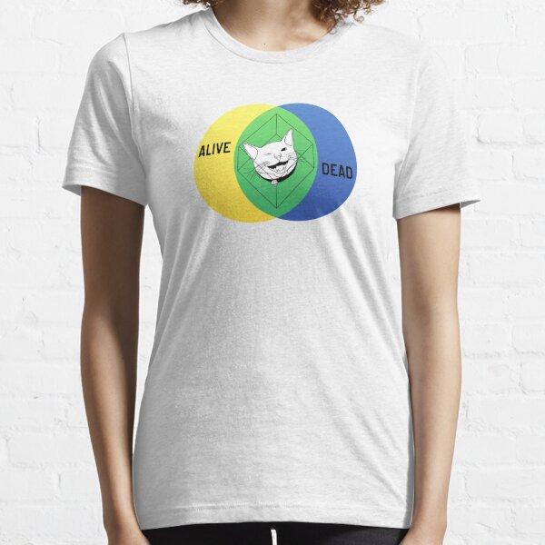 Schrödingers Cat-Venn-Diagramm Essential T-Shirt
