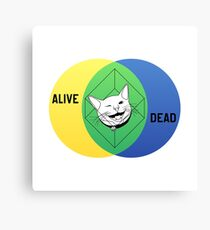Schrödinger's Cat Venn Diagram Canvas Print