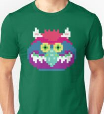My Pet Monster in Green - 8 bit, Geometric, Block, Square, Gray, Purple, Pink, Hot, Teal, Mint, Vintage, Retro, Inspired, 80s, Baby, Blue, Yellow, Coral T-Shirt