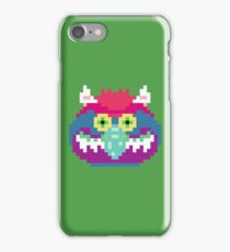 My Pet Monster in Green - 8 bit, Geometric, Block, Square, Gray, Purple, Pink, Hot, Teal, Mint, Vintage, Retro, Inspired, 80s, Baby, Blue, Yellow, Coral iPhone Case/Skin