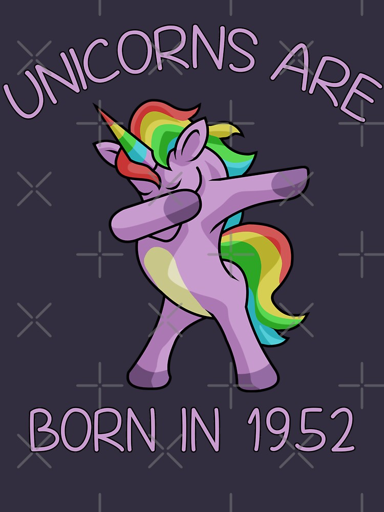 Unicorns are Born in 1952 Cute Dabbing Dance Pose by 8fiveone4