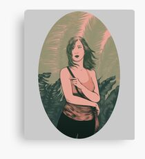 Palm Girl Canvas Print