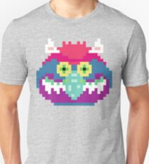 My Pet Monster in Grey - 8 bit, Geometric, Block, Square, Gray, Purple, Pink, Hot, Teal, Mint, Green, Vintage, Retro, Inspired, 80s, Baby, Blue, Yellow, Coral T-Shirt