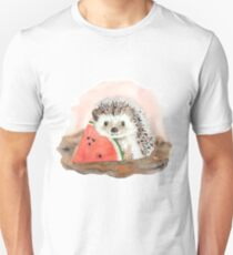 Baby Igel mit Wassermelone Slim Fit T-Shirt