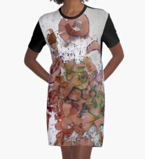 Pencil Shavings Graphic T-Shirt Dress