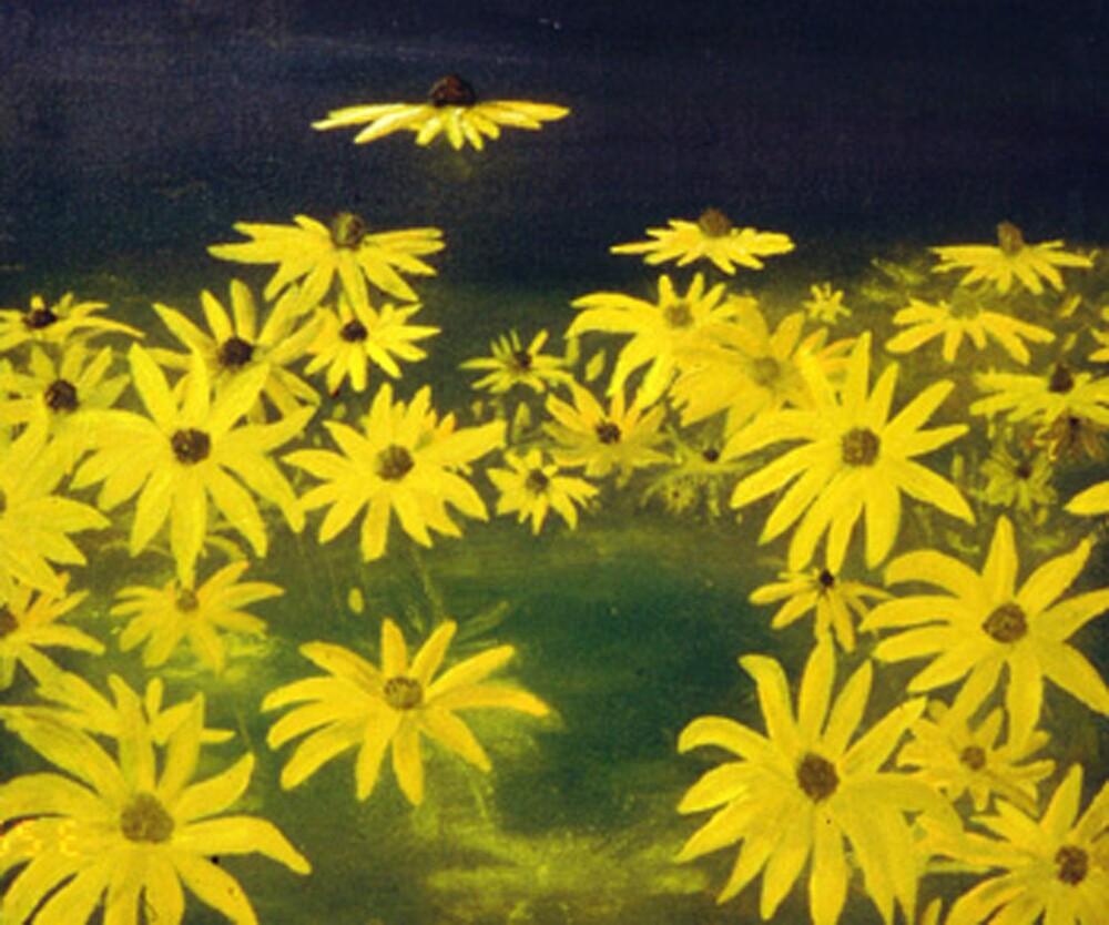 Yellow Flowers by DiSantArt