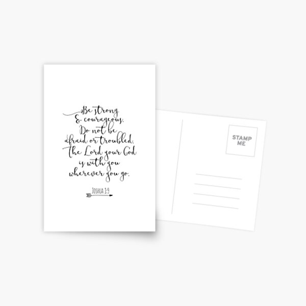 Bible Verse - Be Strong And Courageous  Postcard