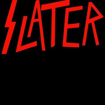 Slater Slayer logo parody by GuitarManArts