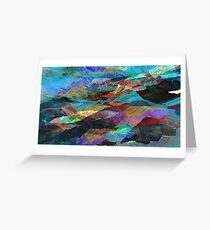 Pigment Mountains Greeting Card