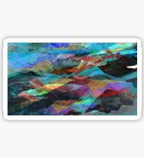 Pigment Mountains Sticker