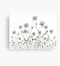 flawers graphic Canvas Print