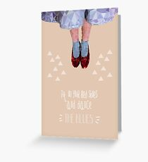 Dorothy's red shoes Greeting Card