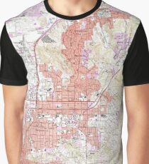 Vintage Map of El Cajon California (1967) Graphic T-Shirt