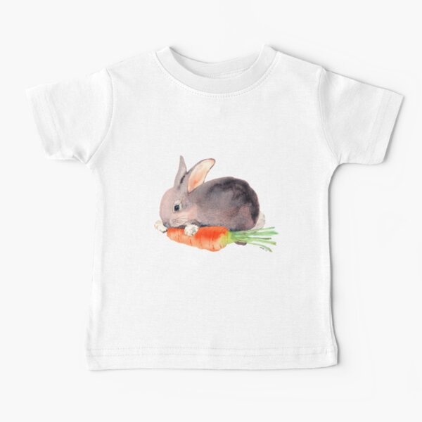 Bunny Rabbit with Carrot Baby T-Shirt