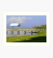 Dock on the Beach Inlet Art Print